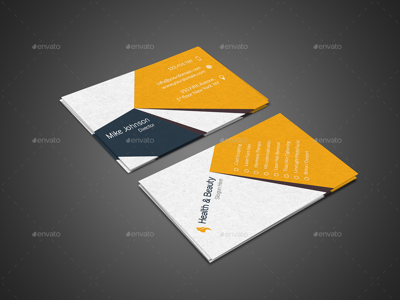 Health & Beauty Flyer - Trifold Brochure - Business Card Pack by ...
