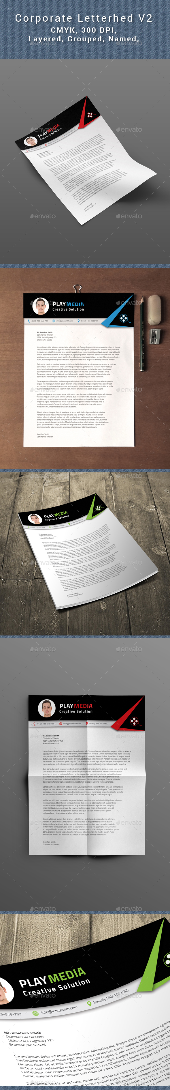 Corporate Letterhead Vol.2 - Resumes Stationery