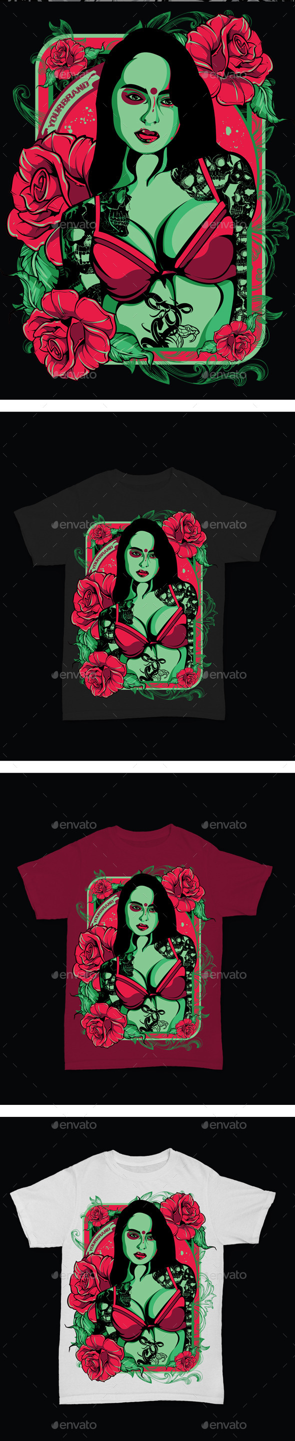Lady Roses - Designs T-Shirts