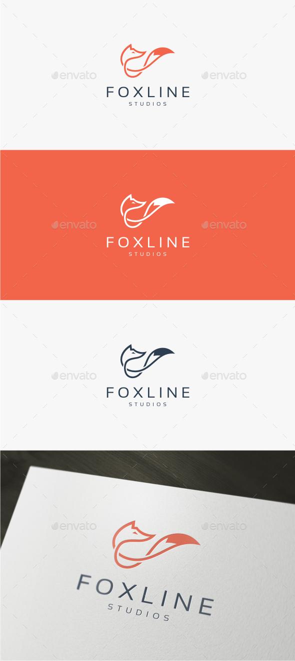 Fox Line - Logo Template - Animals Logo Templates