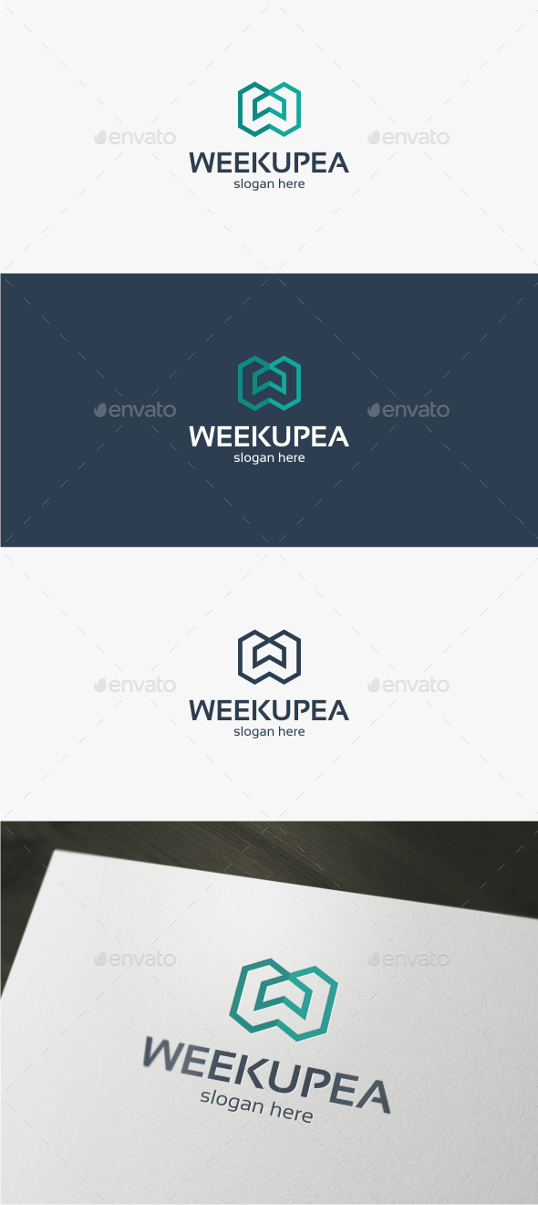 Weekup Letter W - Logo Template - Letters Logo Templates