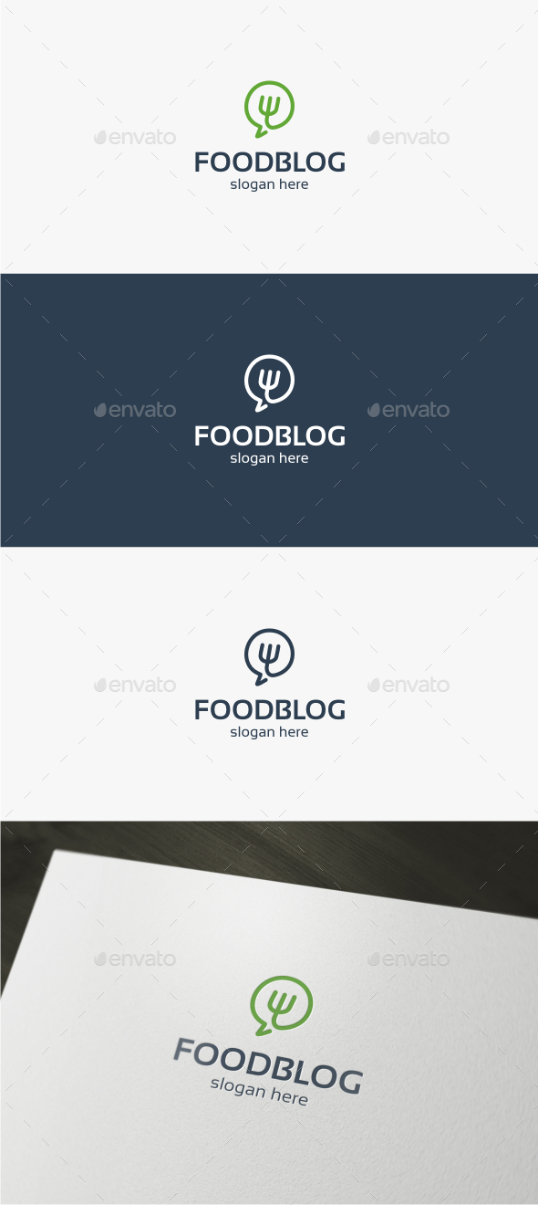 Food Chat - Logo Template - Food Logo Templates