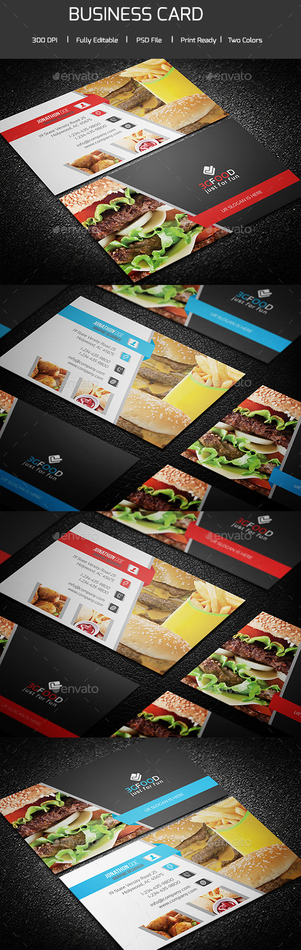 Simple Restaurant Business Card - Corporate Business Cards