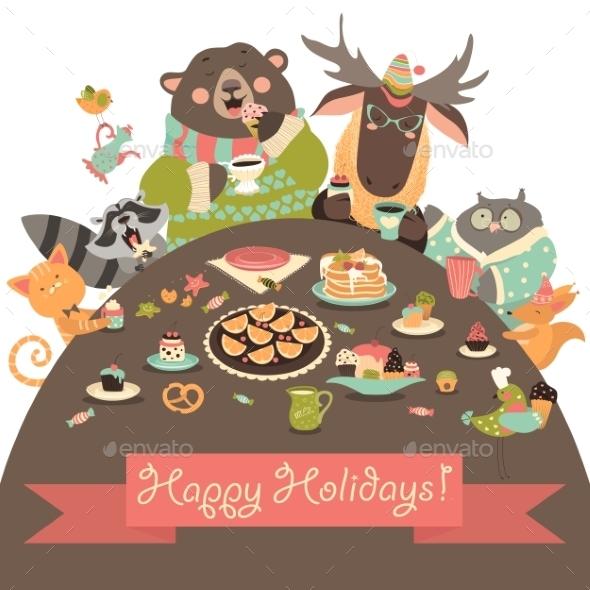 Animals Celebrating Holidays - Miscellaneous Seasons/Holidays