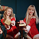 Women in Santa Claus' Costumes With Christmas Gift - VideoHive Item for Sale