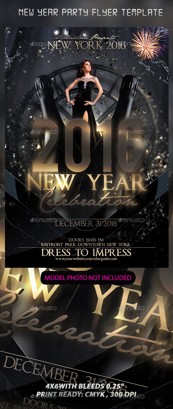 New Year Party Flyer Template - Events Flyers