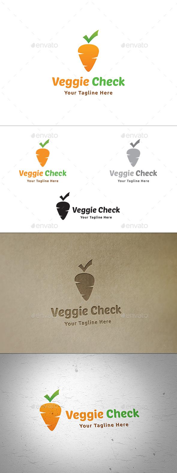Veggie Check Logo - Food Logo Templates