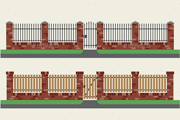 Brick Fence - Buildings Objects