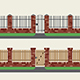 Brick Fence - GraphicRiver Item for Sale