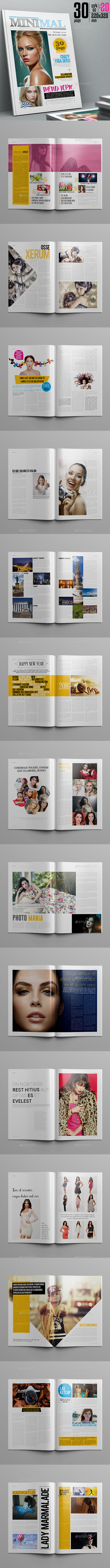 Minimal Magazine Template 30 Page - Magazines Print Templates