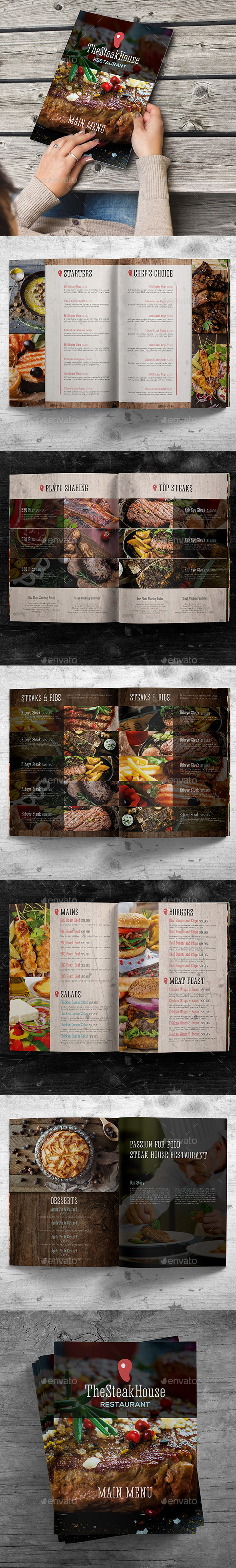 Rustic Main Menu Template - Restaurant Flyers