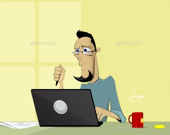 Computer Working Concept - Concepts Business