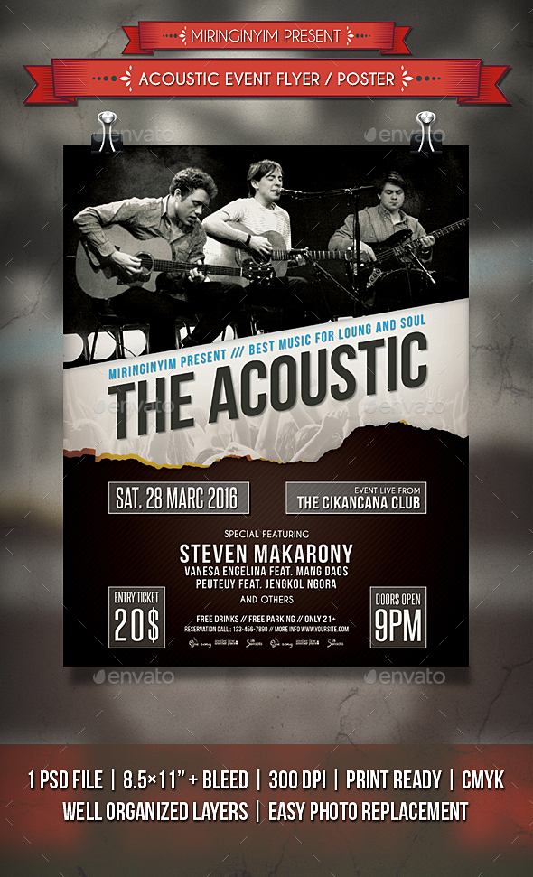 Acoustic Event Flyer / Poster - Events Flyers
