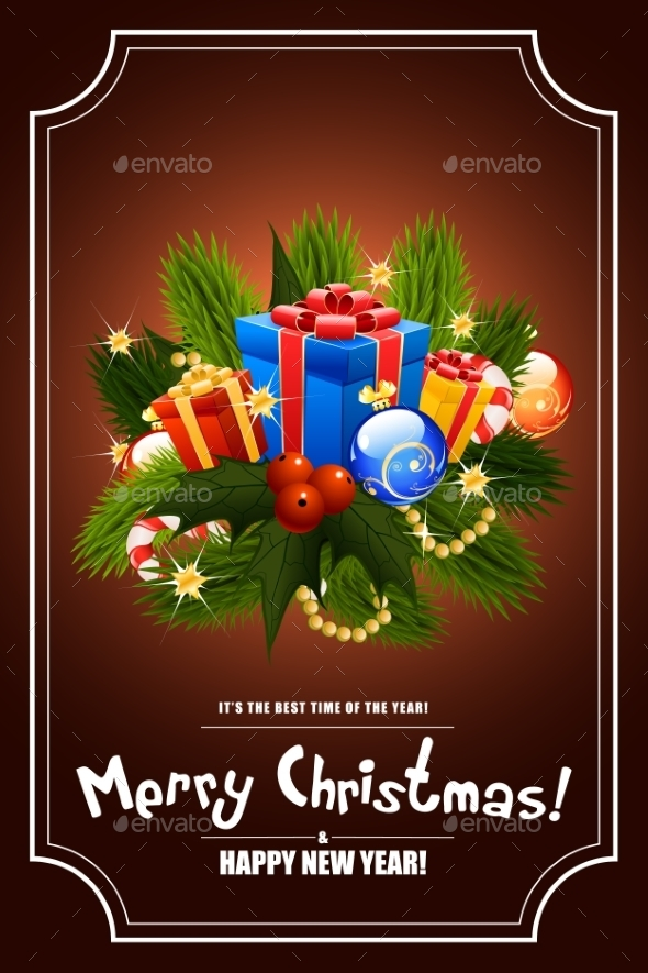 Christmas Greeting Card. Lettering. - Christmas Seasons/Holidays