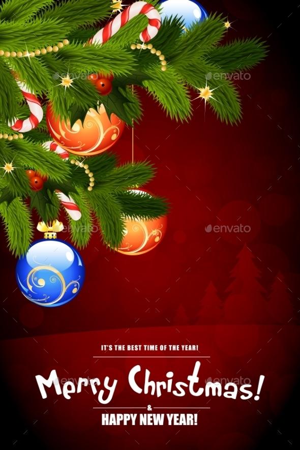 Merry Christmas Card. - Christmas Seasons/Holidays