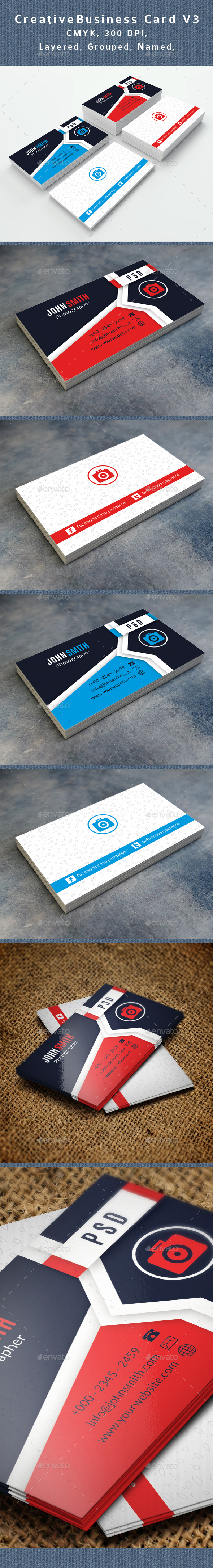 Photographer Business Card V3 - Creative Business Cards