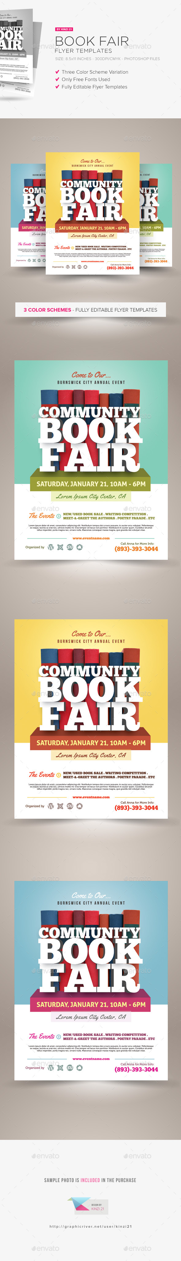 Book Fair Flyer Template - Miscellaneous Events