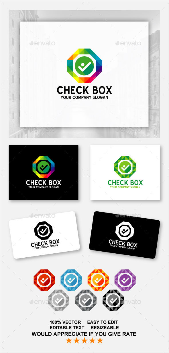 Check Box - Logo Template - Abstract Logo Templates
