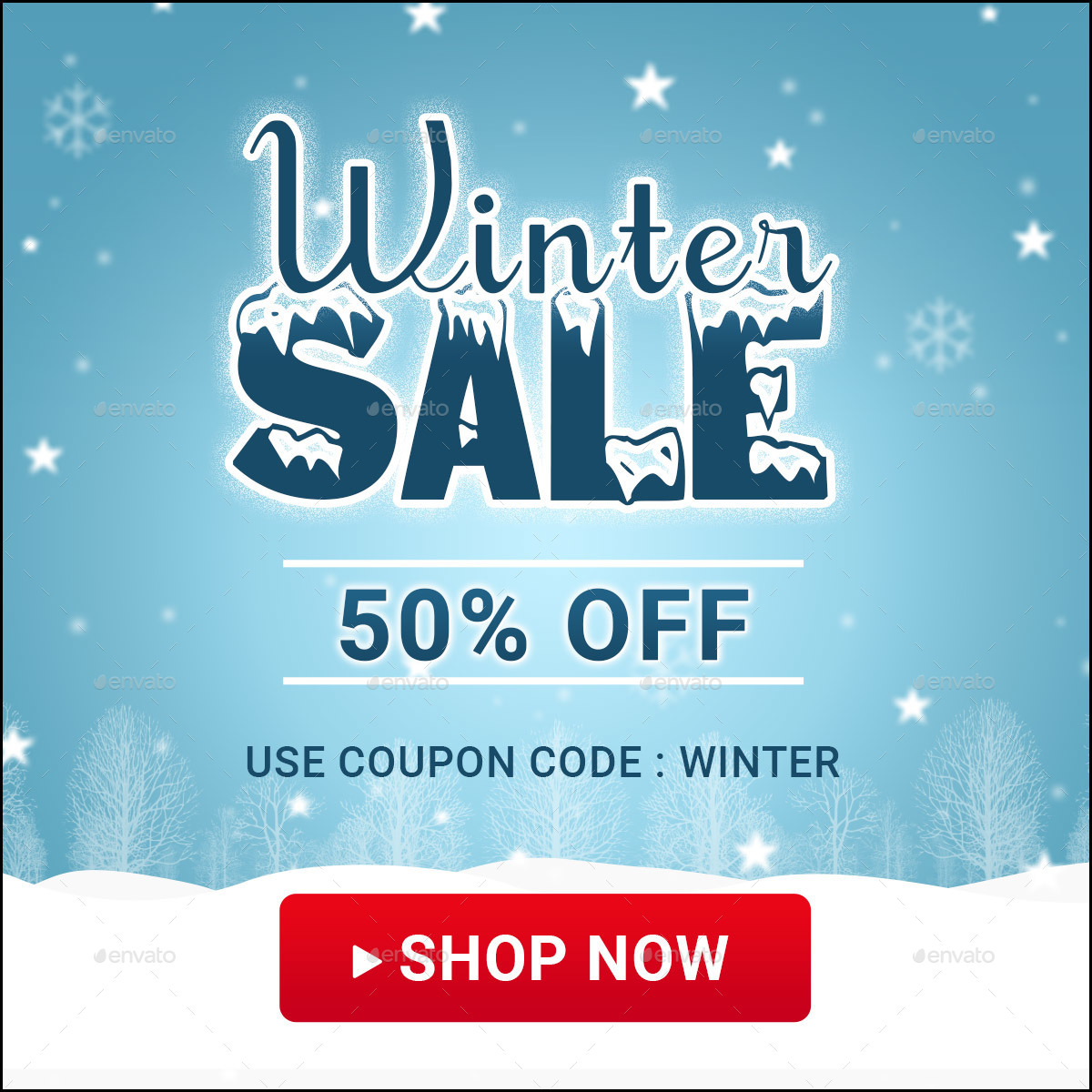 Winter Sale Banners Payroll Outsourcing Banners
