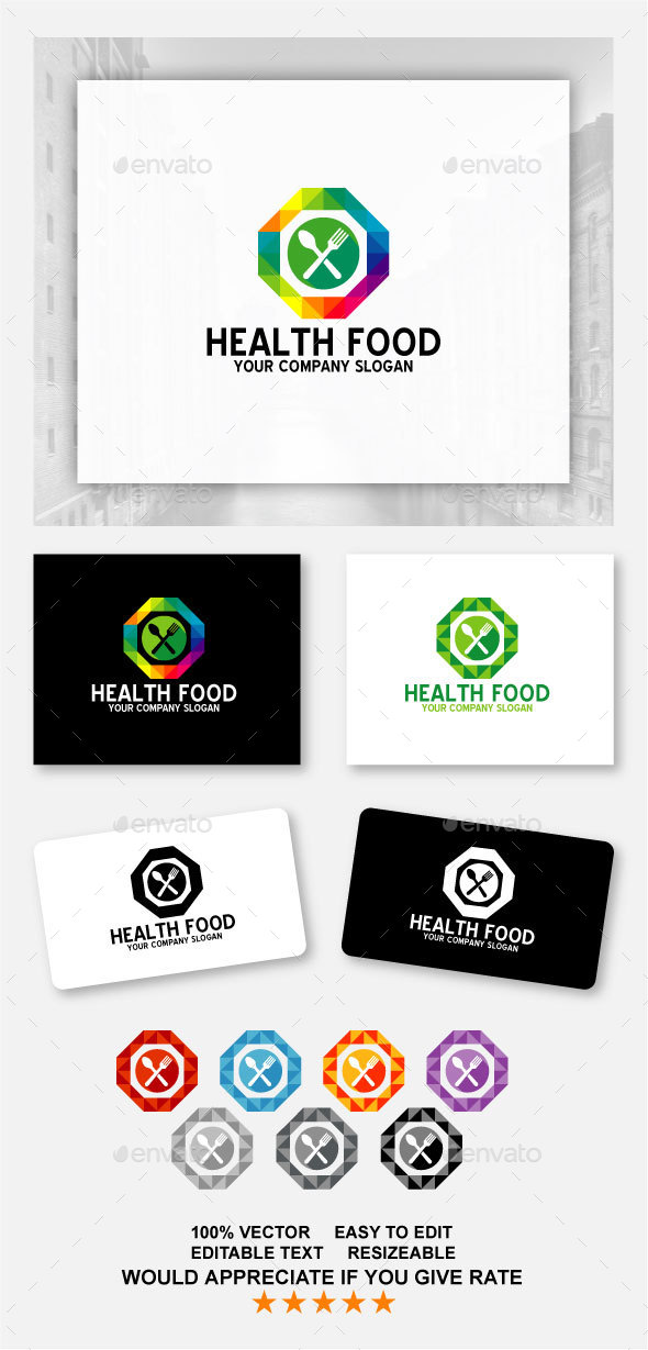 Health Food - Food Logo Templates