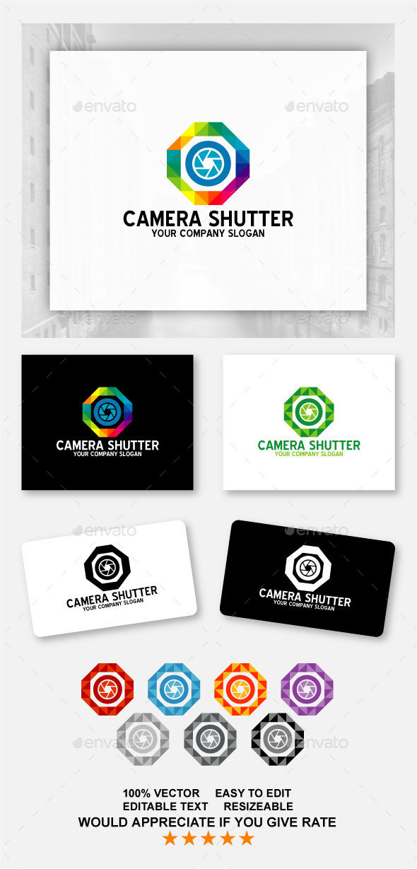 Camera Shutter - Objects Logo Templates
