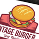 Vintage Burger Logo - GraphicRiver Item for Sale