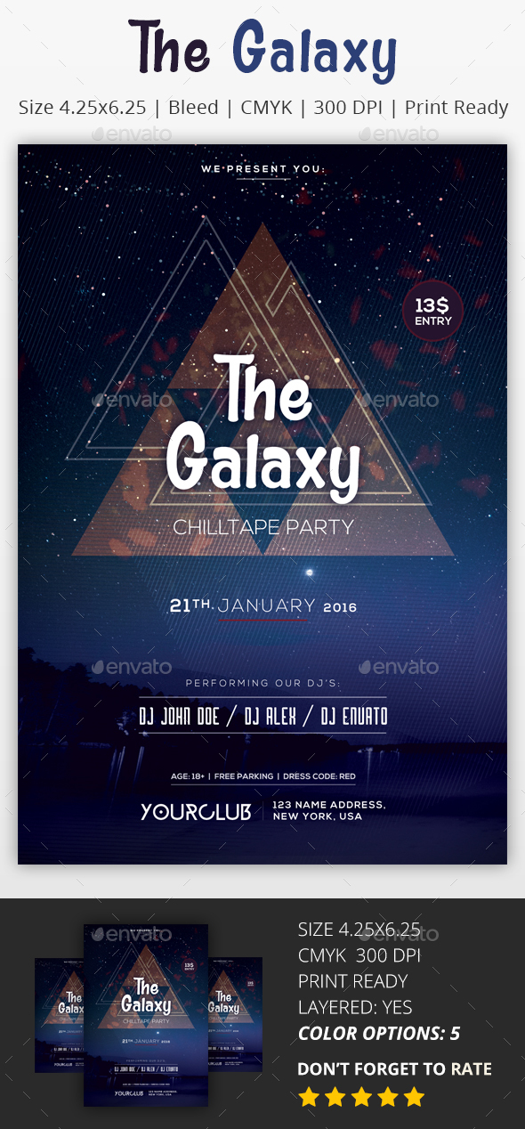 The Galaxy - PSD Flyer - Clubs & Parties Events