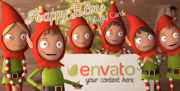 Happy Elves Holiday Card