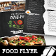 Black White Restaurant Menu Flyer Templates - GraphicRiver Item for Sale