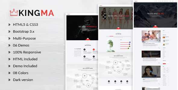 KingMa | Creative Business Onepage Drupal Theme - Creative Drupal