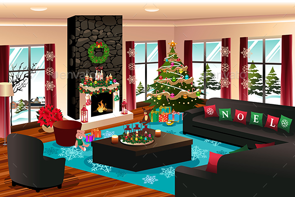 House with Christmas Decoration - Christmas Seasons/Holidays
