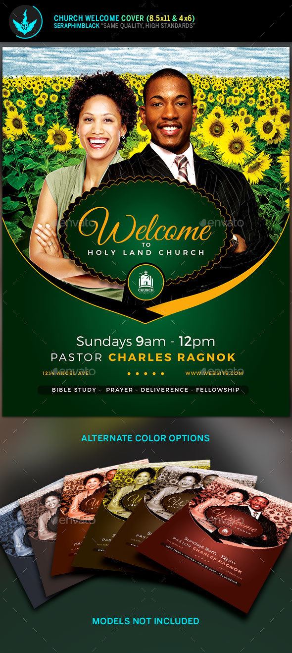 Church Welcome Cover Template 2 - Church Flyers