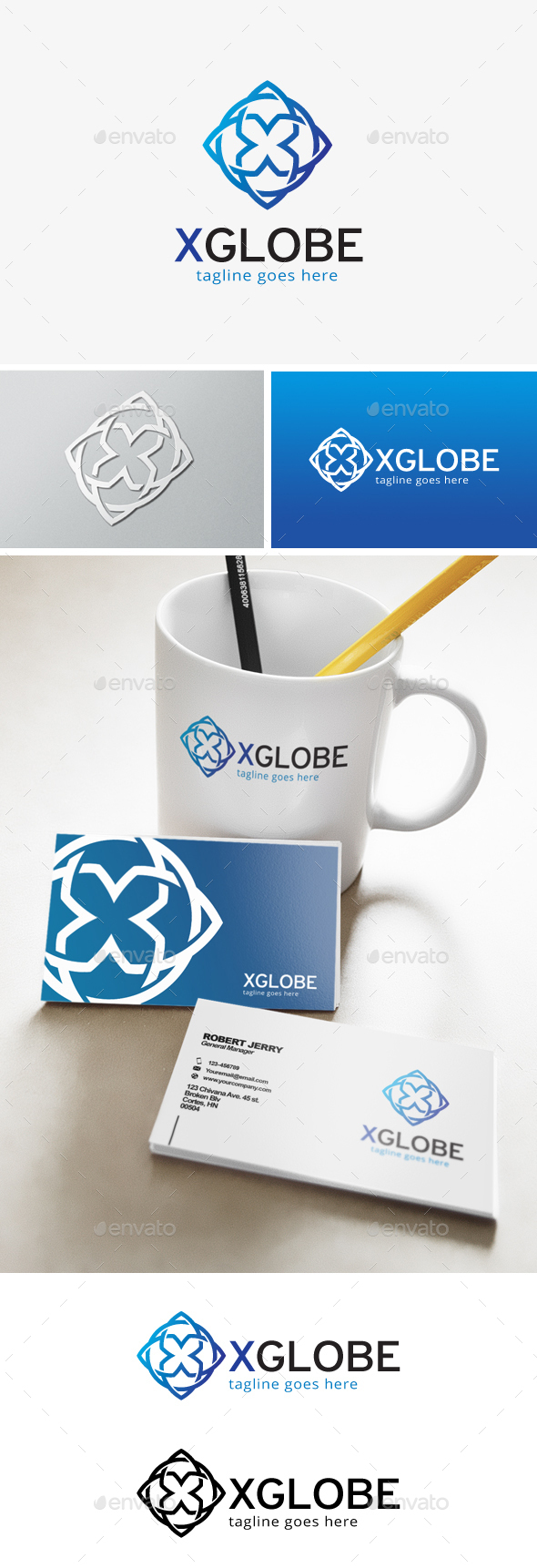 Globe Letter X Logo - Abstract Logo Templates