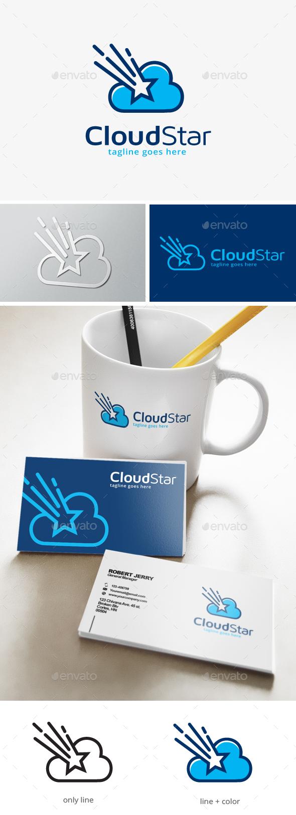 Cloud Star Logo - Symbols Logo Templates