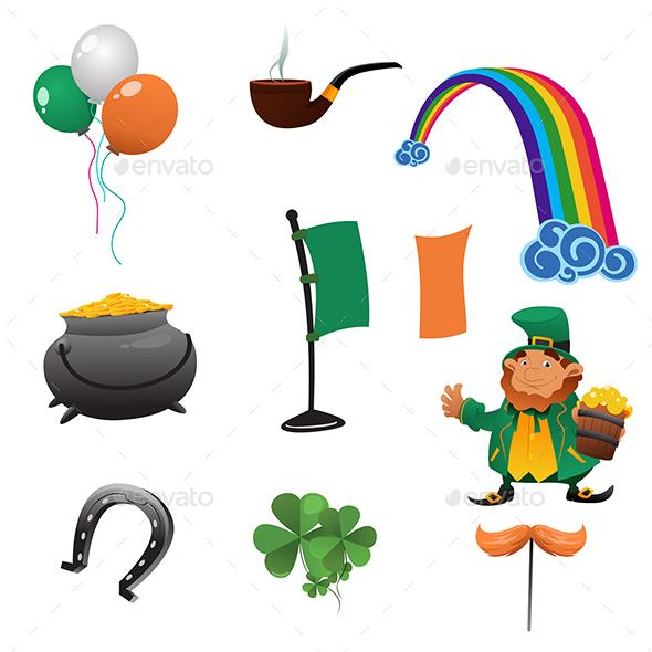 Saint Patrick Day Icons - Seasons/Holidays Conceptual