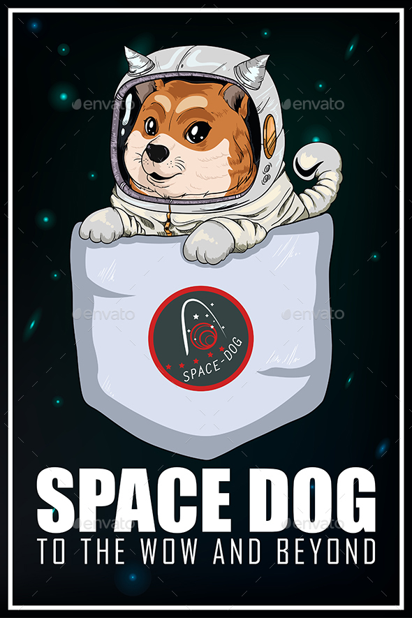 Space Dog Background - Characters Vectors