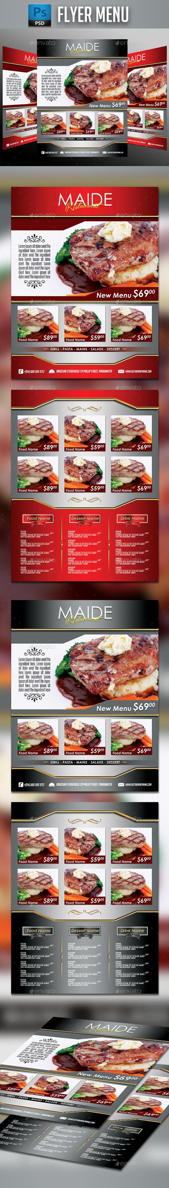 Restaurant Menu #11 - Food Menus Print Templates