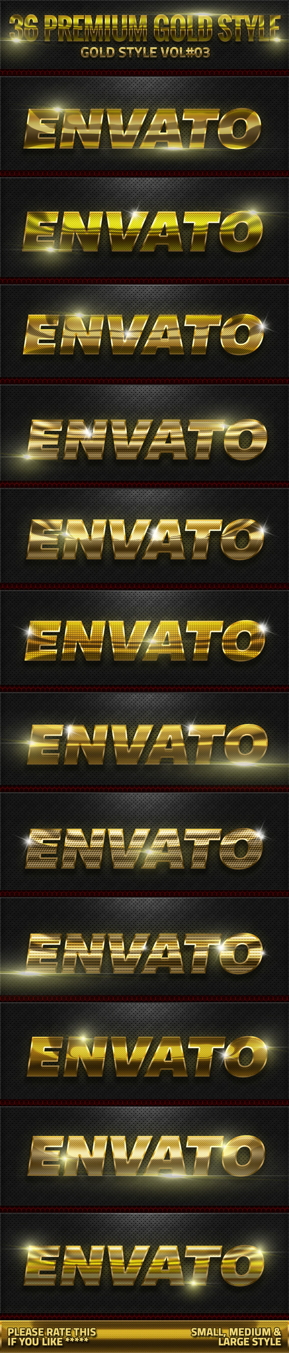 36 Gold Style V03 - Text Effects Styles