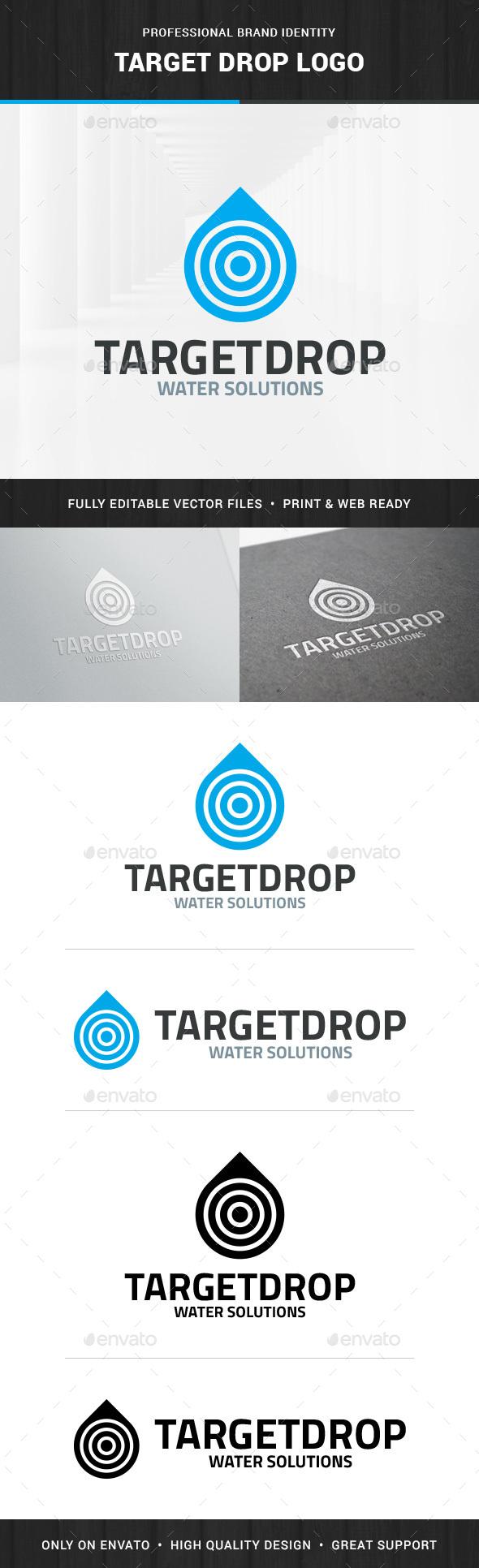 Target Drop Logo Template - Logo Templates