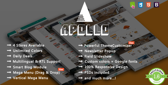 Apollo – Responsive Prestashop Theme
