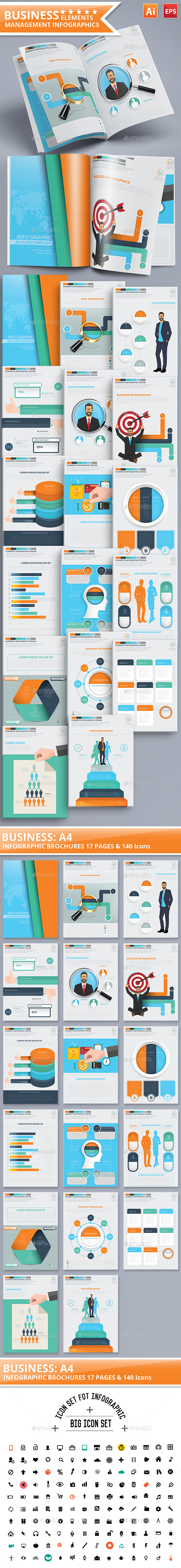 Business Management Infographics 17 Pages Design - Infographics