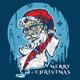 Santa Hipster T-shirt design - GraphicRiver Item for Sale