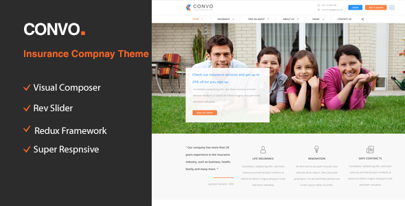 Convo – WP Theme for Business And Insurance