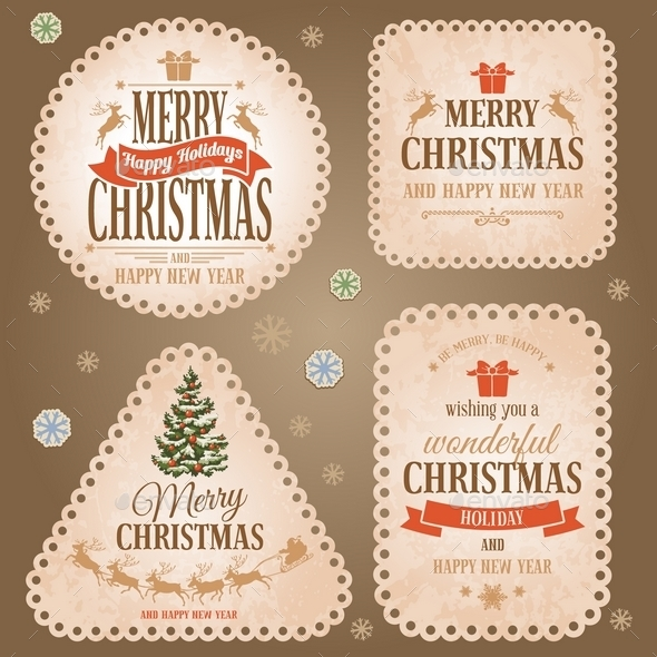 Christmas Labels Set - Christmas Seasons/Holidays