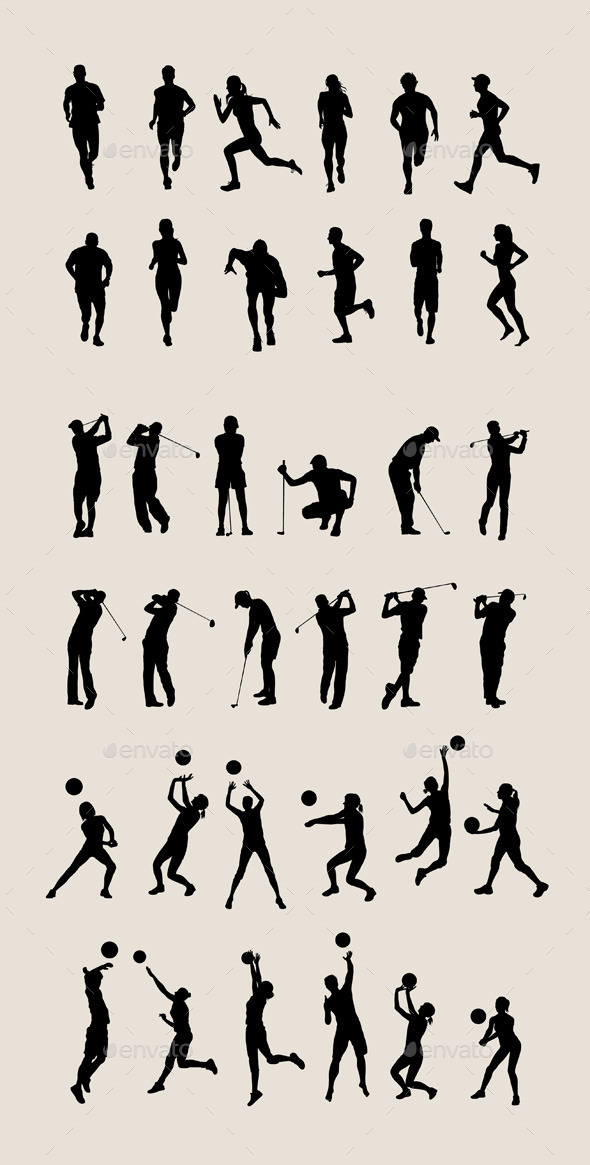 Sport Silhouettes - People Characters