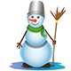 Snowman with a Broom - GraphicRiver Item for Sale