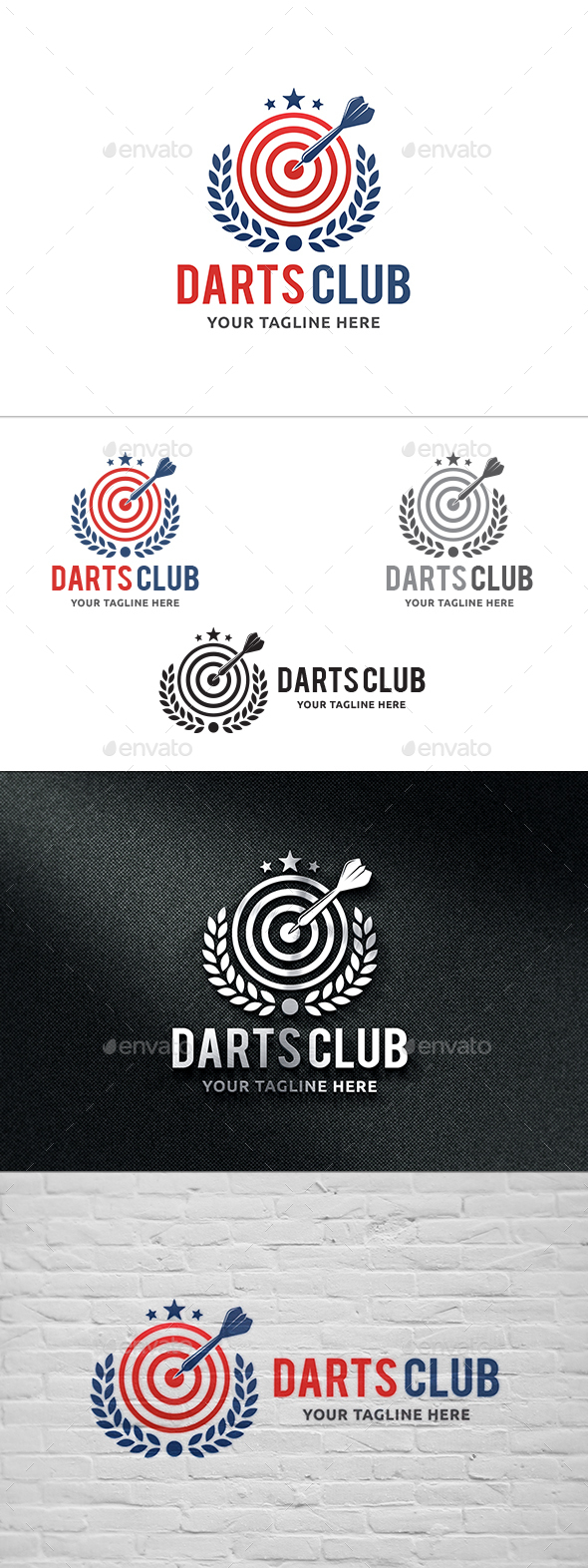 Darts Club Logo - Symbols Logo Templates