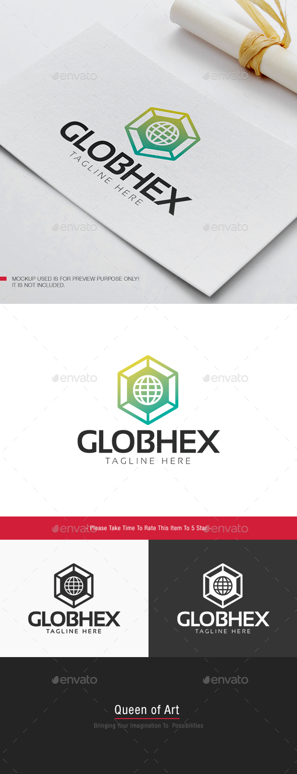 Glob Hex Logo  - Objects Logo Templates