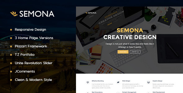 Agency Semona - Creative Joomla Template - Business Corporate