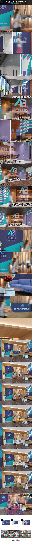Office Interior Branding Mockups V3 - Logo Product Mock-Ups